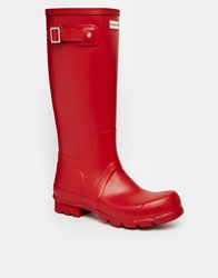 Hunter Original Tall Wellies Red