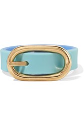 Marc By Marc Jacobs Buckle Up Rubber Bracelet Turquoise
