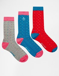Penguin 3 Pack Socks Multi