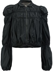 Giambattista Valli Ruffled Lightweight Jacket Black