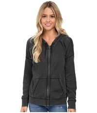 Volcom Lived In Fleece Zip Top Black Women's Long Sleeve Pullover