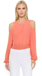 Tamara Mellon Cold Shoulder Blouse Sunset