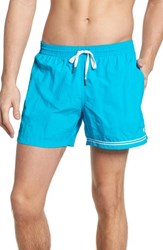 Danward Solid Swim Trunks Turquoise