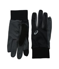 Asics Thermal Run Glove Black Dark Grey Extreme Cold Weather Gloves