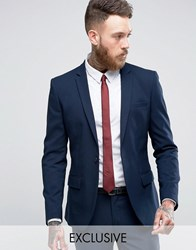 Only And Sons Super Skinny Suit Jacket In Navy Navy