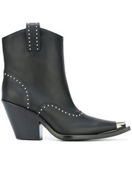 Givenchy Studded Western Ankle Boots Black