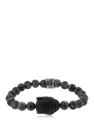 Cantini Mc Firenze Buddha Labradorite Beaded Bracelet Black