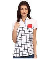 Ariat Twist Jersey Polo Navy Check Women's Clothing