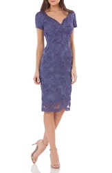 Js Collections Women's Soutache Mesh Sheath Dress Violet