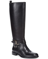 Enzo Angiolini Daniana Wide Calf Riding Boots Women's Shoes Black