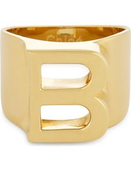 Chloe Alphabet B Ring Gold