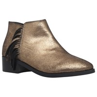 Kg By Kurt Geiger Shimmy Flat Ankle Boots Gold