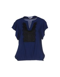 Biancoghiaccio Shirts Blouses Women Dark Blue