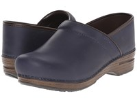Dansko Pro Xp Waterproof Navy Oiled Women's Clog Shoes Blue