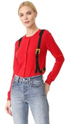 Moschino Long Sleeve Sweater Red