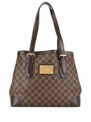 Louis Vuitton Vintage Hampstead Monogram Tote Bag Brown