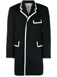 Thom Browne Cashmere Chesterfield Overcoat Blue