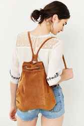 Ecote Drawstring Hobo Backpack Brown