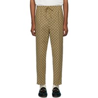 Gucci Brown Gg Canvas Jogging Trousers