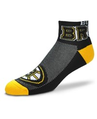 For Bare Feet Boston Bruins The Cuff Ankle Socks Black