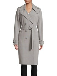 T Tahari Uraina Trench Coat Grey