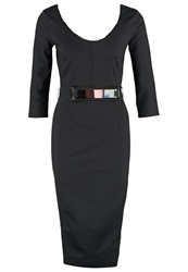 Morgan Rocina Cocktail Dress Party Dress Noir Black