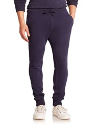 Wahts Cotton And Cashmere Cuffed Sweatpants Night Blue Washed Grey