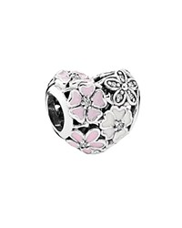 Pandora Design Pandora Charm Sterling Silver Cubic Zirconia And Enamel Poetic Blooms Moments Collection Pink