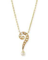 Turner And Tatler Diamond Question Mark Pendant Necklace
