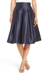 Eliza J Women's Release Pleat Full Skirt Navy
