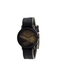 South Lane Stockholm 'Avant Verge Sidezip' Watch Black