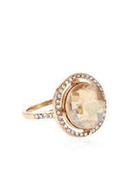 Accessorize Pave Round Cocktail Ring Crystal