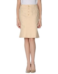 Strenesse Gabriele Strehle Knee Length Skirts Beige