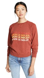 Frame Sous Le Soleil Sweatshirt Faded Burnt Henna