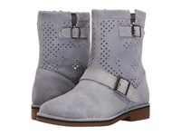 Hush Puppies Aydin Catelyn Perf Powder Blue Suede Women's Pull On Boots