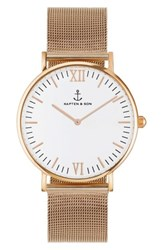 Kapten And Son 'S Campina Mesh Strap Watch 36Mm