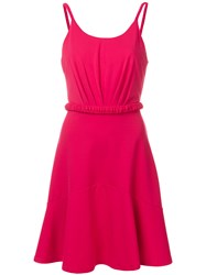 Emporio Armani Cinched Waist Mini Dress Red