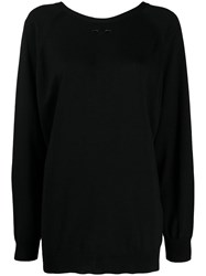 Barbara Bui Round Neck Jumper Black