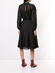 Ck Calvin Klein Long Sleeve Shirt Dress Black