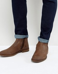 Asos Chelsea Boots In Brown Suede Brown
