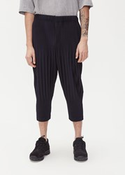 Homme Plisse Issey Miyake Basics Wide Trouser Navy