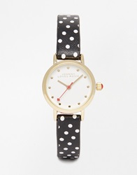 Johnny Loves Rosie Polka Dots Watch Black