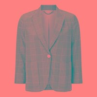 Jigsaw Plaid Wool Portofino Jacket