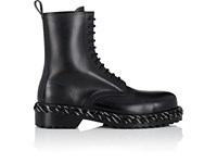 Balenciaga Lacing Detailed Leather Boots Black