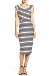 Eci Women's Stripe Jersey Sheath Dress