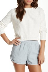 American Apparel Fisherman Crop Sweater White