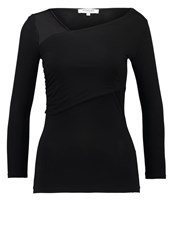 Morgan Tactic Long Sleeved Top Noir Black
