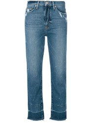 Hudson Distressed Finish Jeans Blue