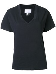 Current Elliott V Neck T Shirt Black