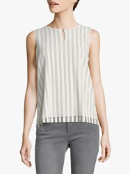 Betty And Co. Layered Stripe Top White Blue